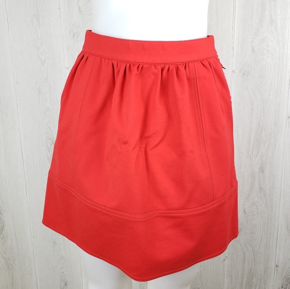 Madewell Dresses & Skirts - Madewell Red Swivel Ponte skirt Size 2